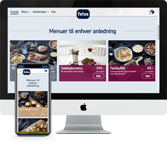 Bilka and føtex Grow Food E-commerce Screenshot