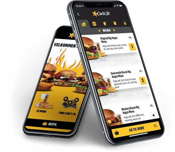 Carl's Jr. Food Pre-ordering App Screenshot